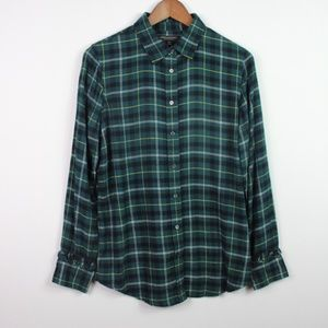 Banana Republic Dillon Flannel Shirt Size M Plaid